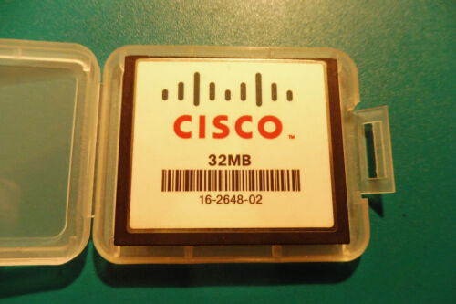 véase-card + nuevos box nº 608b Cisco CompactFlash véase-mapa 32 mb. 16-2648-02