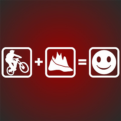 Downhill MTB Aufkleber Sticker Berge Mountain Bike Sport Radfahrer