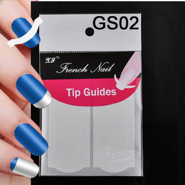 2x Overflow Style French Manicure Nail Art Tips Tape Sticker Guide Stencil