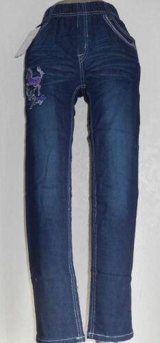 """Jeans,Jeanshose,Mädchen,Kinder,Gr.86,92,98,110,116,122,134,146  /""""Lila Pferd/"""""""