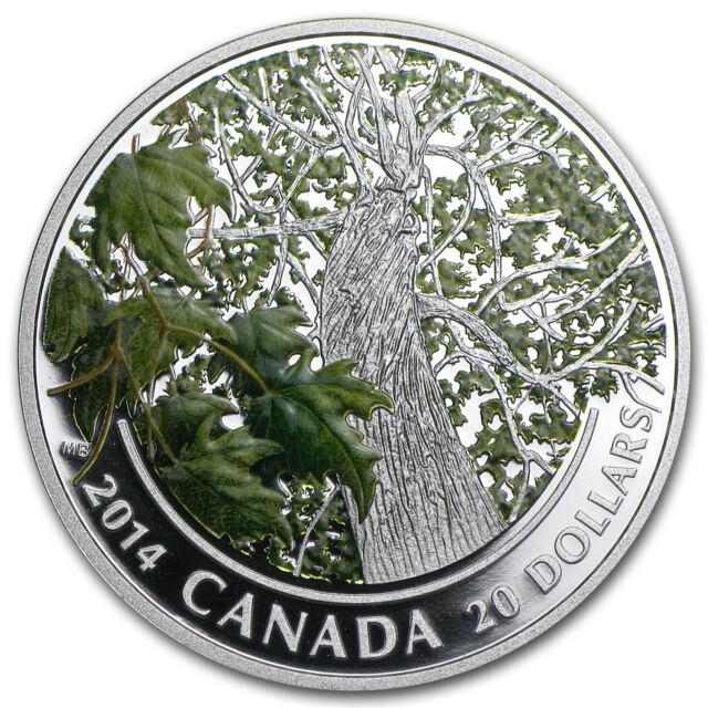 2014 1 oz Silver Canadian $20 Maple Canopy Coin - Spring Splendor - SKU #82115
