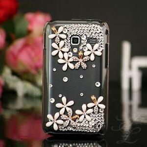 Samsung-Galaxy-ACE-Plus-S7500-Hard-Case-Handy-Schale-Hulle-Etui-Steine-Klar
