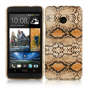 BROWN-SNAKE-SKIN-INSPIRED-PROTECTIVE-LEATHER-BACK-CASE-COVER-FOR-HTC-ONE