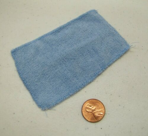 """Fisher Price Loving Family Dollhouse BLUE TERRY BATH TOWEL 4/"""" x 2.5/"""" for Barbie"""