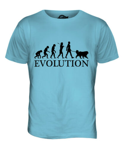 TIBETAN MASTIFF EVOLUTION OF MAN MENS T-SHIRT TEE TOP DOG LOVER GIFT WALKER