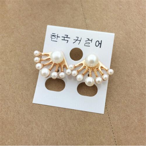 Para mujeres Encantador Imitación Pendientes de Concha de perla elegante joyería de moda 6A