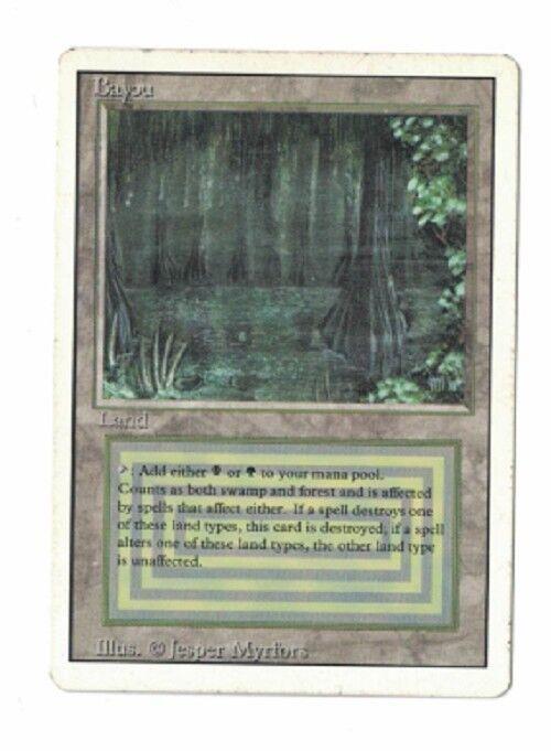 Revised Bayou MP MTG MTG MTG Magic BG Dual Land 60dcbf