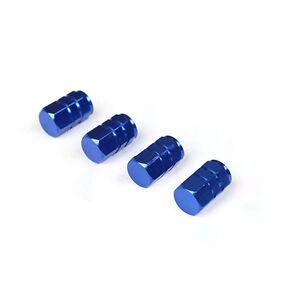 4PCS-Azul-Ruedas-Tapones-de-valvula-Tapas-vastago-casquillos-Neumatico-Coche