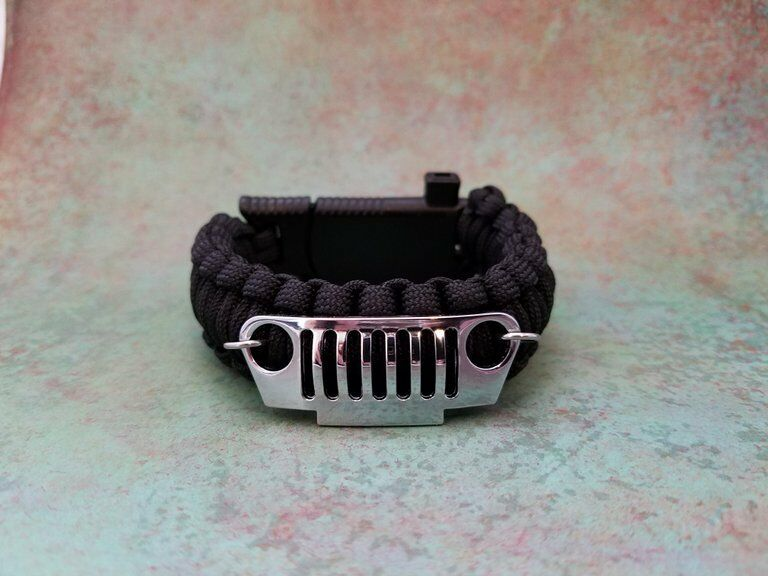 JEEP Grill  Paracord Life Saving Bracelet CJ YJ XJ JK Wrangler Liberty Off Road  affordable