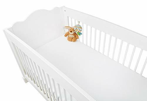 Pinolino Kinder Spannbetttuch für Kinderbetten Jersey weiß