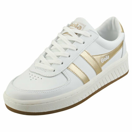 Gola Grandslam Womens White Gold Leather Fashion Trainers