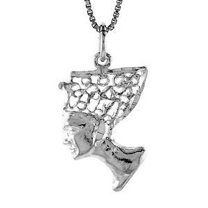 "Sterling Silver Lacrosse Stick Pendant Charm 18/"" Italian Box Chain"