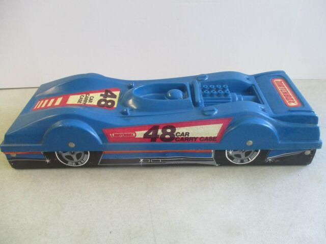 VINTAGE MATCHBOX LESNEY ENGLAND 48 TOY CAR CARRY CASE CAR SHAPED BLUE 1980's
