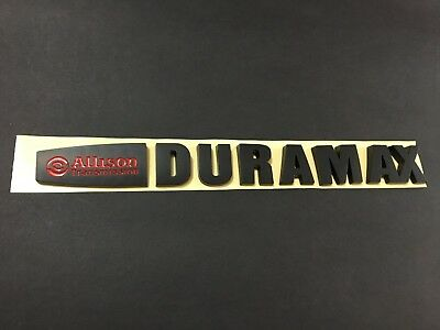 NEW Matt Black Red Silverado 2500HD /& 3500HD Allison Duramax Hood Emblem