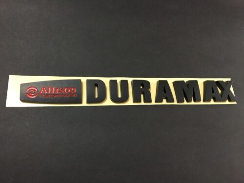 NEW Matt Black Red Silverado 2500HD /& 3500HD Allison Duramax Hood Emblem