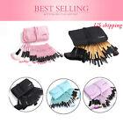 32pcs Fashion Pro Eyebrow Shadow Lip Soft Makeup Brush Set Kit + Pouch Bag Gift