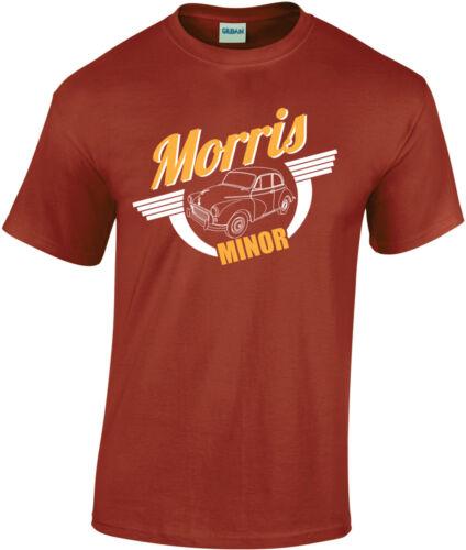 Various Colours Retro Morris Minor T-Shirt Design