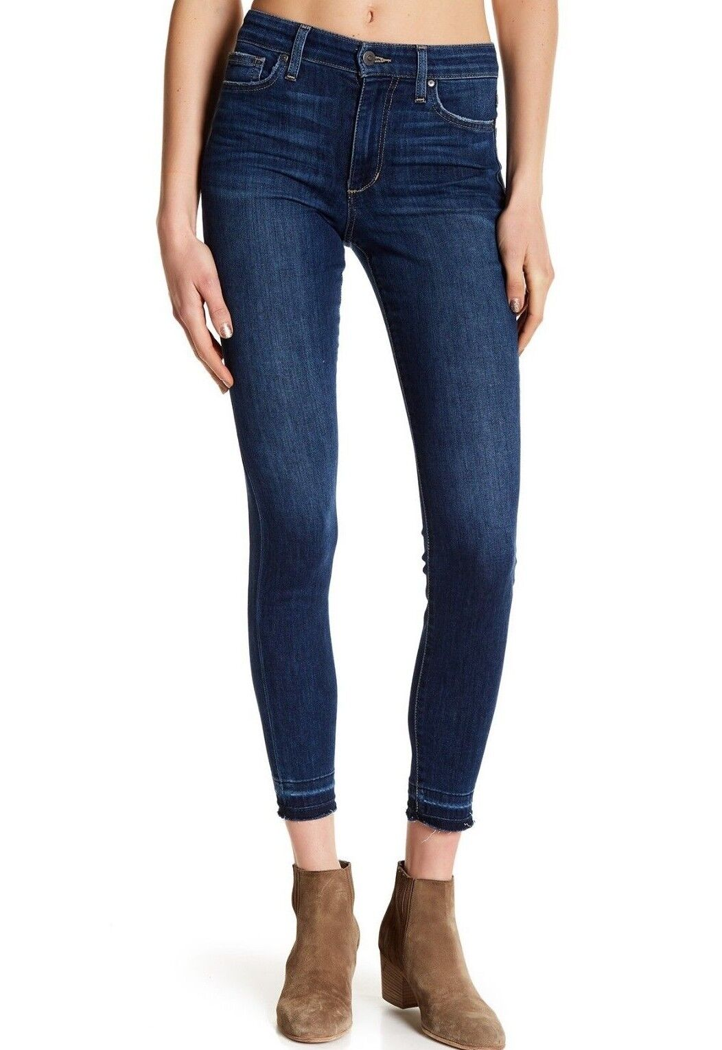 Nwt JOE´S Sz30 die Eng Anliegende Knöchel Roh Saum Hoher Stretch Jeans in Ruth