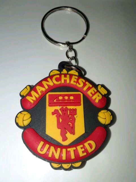 Manchester United Fc Club Crest Key Chain Futbol