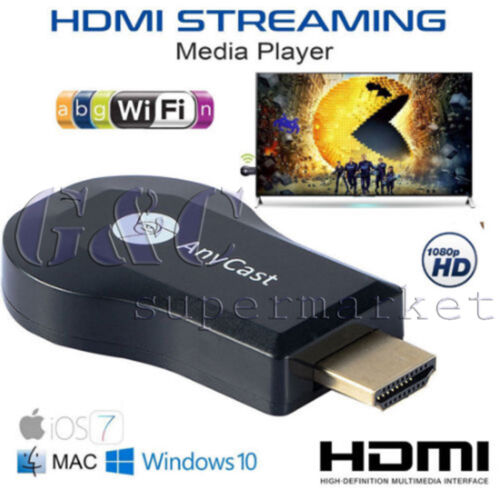AnyCast HD WiFi Display Receiver DLNA Airplay Miracast TV Dongle Stick 1080P