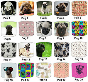Pug-Dogs-Lampshades-Ideal-To-Match-Pug-Dogs-Wallpaper-amp-Pug-Dogs-Duvets-Covers
