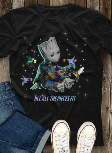 Autism Baby Groot Till All The Pieces Fit Men Shirt Mothers Day Gift Print in US