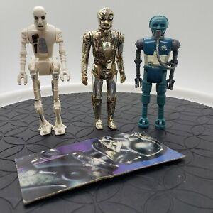 Vintage-Star-Wars-8D8-2-1B-Death-Star-Droid-Action-Figure-Lot-of-3-KENNER-1978