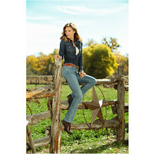 Killer Women Tricia Helfer as Molly Parker Seated on Fence 8 x 10 Inch Photo