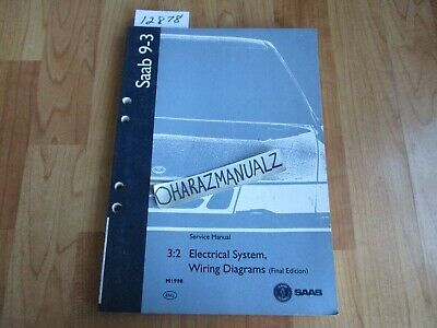 1998 SAAB 9-3 Electrical System Wiring Diagrams Final ...