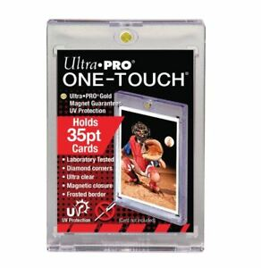 6 BCW PRO ONE TOUCH MAGNETIC CARD HOLDERS 35 PT UV PROTECTION