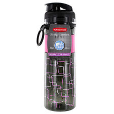 Rubbermaid Design Series Hydration 20 oz. Reusable Water Sports Bottle (Pink)