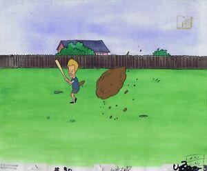 Beavis & Butt-head Original 1990's Production Cel Animation Art Mud
