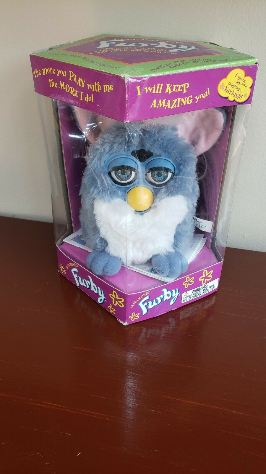 Furby  Model 70-800 1999 bluee, Pink & White in original box