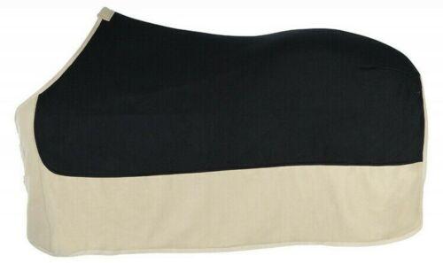 Fleece Polar Abschwitzdecke hochwertig Pfiff 135 cm schwarz beige Schweifriemen