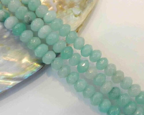 """4X6mm Light Blue Faceted Aquamarine Loose Beads 15/"""""""