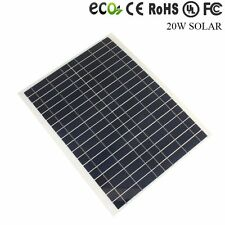 20W Poly Solar Panel Module 12V 12 Volt Battery Charger RV DIY Flexible Caravan