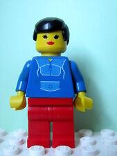 LEGO Minifig par048 @@ Jogging Suit - Red Legs, Black Male Hair 6597 10159