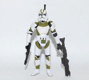 "Star Wars 442nd Battallion Green White Clone Trooper 3.75/"" Loose Action Figure"