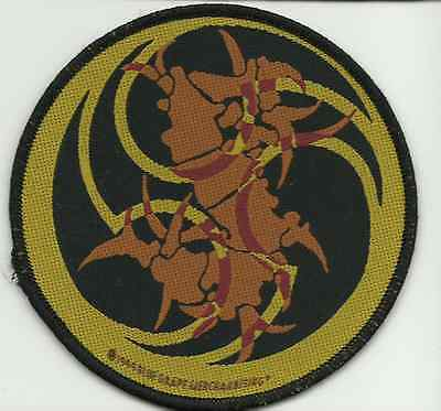 SEPULTURA thunder s 1999 circular WOVEN SEW ON PATCH official - no longer made