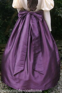 Ladies-SKIRT-SASH-Victorian-Edwardian-costume-gentry-fancy-dress-aubergine