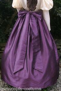 Ladies-SKIRT-amp-SASH-Victorian-Edwardian-costume-gentry-fancy-dress-aubergine