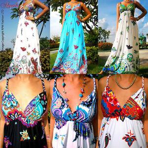 NEW-Summer-Evening-Cocktail-Long-Women-Maxi-Dress-Size-Plus-6-22-M-XXXL-CA