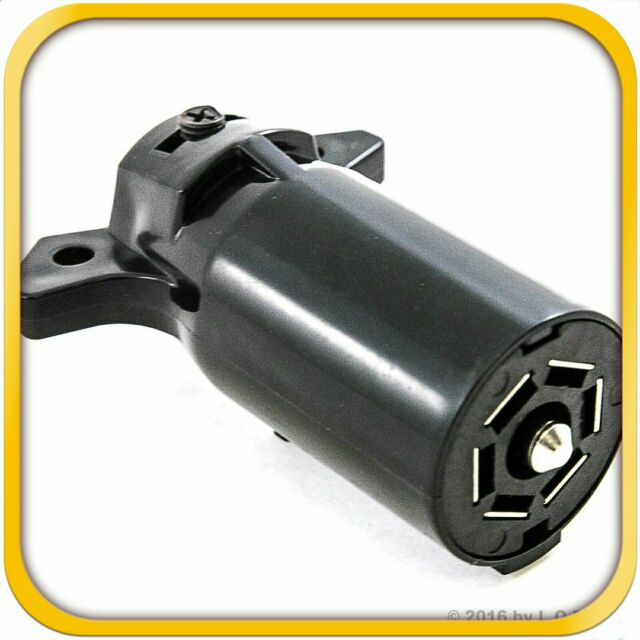 Trailer End 7 Way Round Rv Style Light Plug Connector