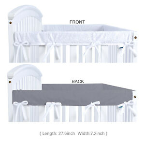 Safe Teething Guard Wrap for Standard Cribs Per Newly 2-Piece Baby Crib Rail Cover Set Fits Side