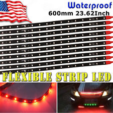"10x 60CM 24"" Red Flexible LED Underbody Light Strip 2835 SMD for Car Motor 12V"