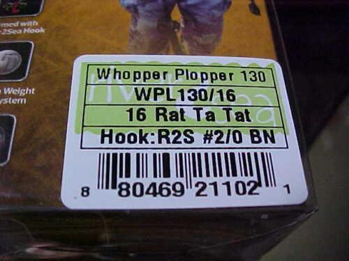 "River2Sea 5/"" Larry Dahlberg Series WHOPPER PLOPPER WPL130-16 for Bass//Pike"