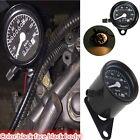 New Universal Motorcycle Dual Odometer Speedometer Gauge LED Backlight Black