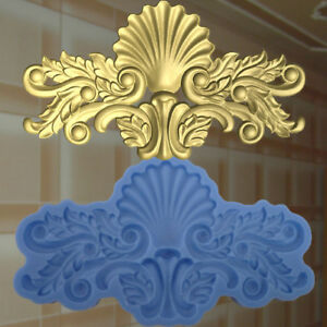 Dekor-Stuck-Verzierung-Silikonform-Ornament-Relief-VINTAGE-DEKO-Molds-210