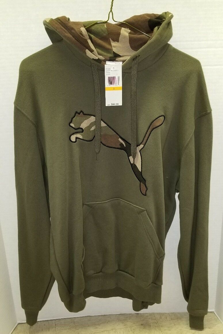NEW Puma Camo Cat Fleece Hoodie - MSRP  - Size Small