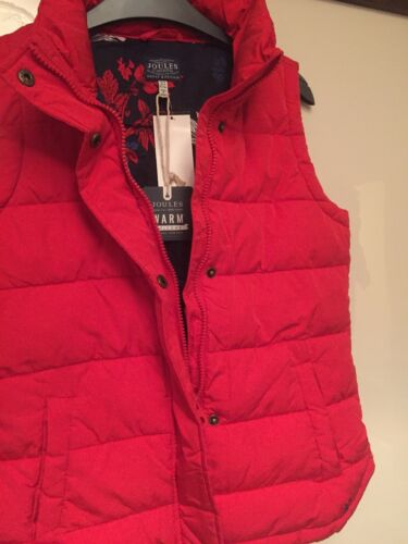Red Padded 8 Joules Uk Winter Size Gilet Women New wFtZ4EZx
